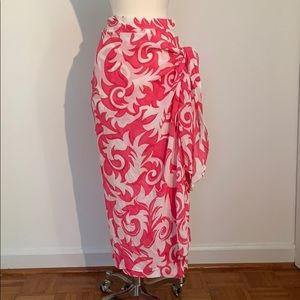 Guy Laroche Floral Sarong Skirt from France